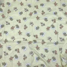 """Yellow Baby Bedtime Teddy Bears Fabric 41"""" X 100"""" Craft Baby Shower AN"""
