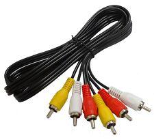 Câble cordon RCA phono audio vidéo 3 mâles -3 mâles 1.5m  1,5 mètres  - C2644
