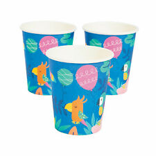 Tropical Toucan & Parrot Paper Cups - Party Supplies - 10 Pieces