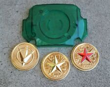 Green Lens & 3 Power Coins gold Made for Bandai Legacy Master Ranger Cosplay