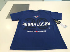 Toronto Blue Jays Josh Donaldson Small Name Number Blue T Shirt Youth Bulletin