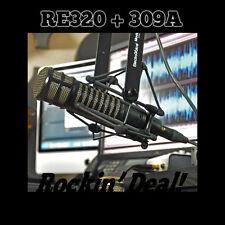 Electro Voice RE-320 mic w/Case + 309A SHOCK MOUNT EV RE320 + UN-USED IN BOX