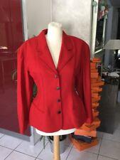 Veste blazer PLEIN SUD taille 40/42 neuve rouge laine et cachemire 595€