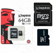 ORIGINALE SCHEDA DI MEMORIA KINGSTON MICRO SD SCHEDA 64gb per Alcatel One Touch Pop c2