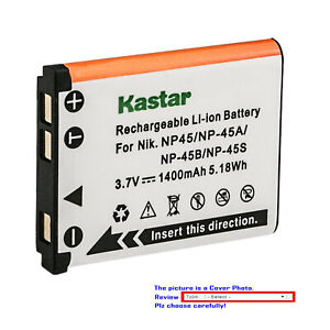 Kastar Battery Pack Replacement for Fujifilm NP-45A NP-45B NP-45S BC-45 BC-45B