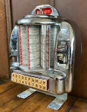 Vintage Seeburg 100 Wall-O-Matic Table or Wall Mount Diner Jukebox Model 3W1
