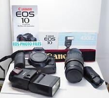 Canon EOS 10 35mm Film Camera, 430EZ Flash, Ultasonic Tele zoom 70-210 1:3.5-4.4