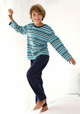 ARIZONA Jungen Pyjama lang im used Streifen Design. Gr. 134/140. NEU!!!