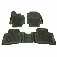 Front and Rear All Weather Floor Mats Black Genuine For Toyota RAV4 2.5L L4 2019