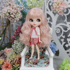 """12"""" Neo Blythe Doll From Factory Pink Hair With Make-up Eyebrow Sleeping Eyes"""