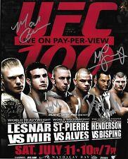 Frank Mir Mark Coleman Dan Henderson & Michael Bisping Signed UFC 100 8x10 Photo