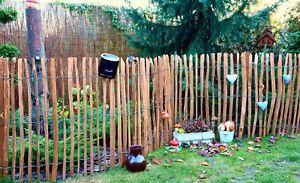 Staketenzaun Holzzaun Haselnusszaun Gartenzaun Zaunlatte imprägniert 50 - 150 cm
