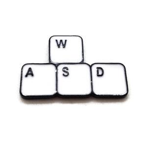 WASD Gamer Metal Enamel Pin button brooch badge Gaming PC Master Race Videogames