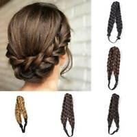 Women Bohemian Styling Braided Plaited Twist Hair Band Wig Princess Headband