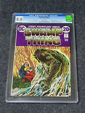 SWAMP THING #1 1972 CGC 8.0 - White Pages Origin of Swamp Thing
