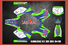 Kawasaki KX 125 - Kx 250 94-98 CUSTOM Retro  GRAPHIC KITS