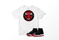 Bedroom Bully White Graphic T-Shirt to Match Air Jordan 11 Bred Retro All Sizes
