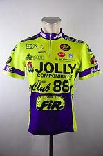 Jolly vintage FIR Club 88 neon gelb cycling maglia Rad Trikot Gr. L 54cm 07E