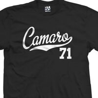 Camaro 71 Script Tail Shirt - 1971 Classic Muscle Race Car - All Size & Colors