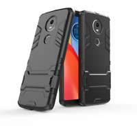 SLIM HEAVY DUTY SHOCK PROOF PHONE PROTECT CASE COVER STAND-Motorola Moto E5 Plus