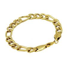 Luxury 9 mm width 18 k Gold Plated Bracelet for Men Man Mens Jewellery BB123