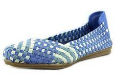 Easy Spirit Gibby flats elastic stretch blue multi woven GEL sz 11 Med NEW