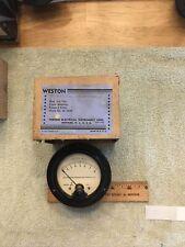 Vtg Radio Panel Meter Weston Volts Ac 0 8 Model No 476 Me459