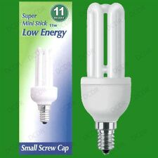1x 11W Low Energy Power Saving CFL Mini Stick Light Bulb, SES, E14 Lamp