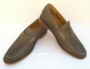 NEW SPERRY MENS GOLD CUP EXETER PENNY LOAFERS SHOES LEATHER TAUPE SIZE 13