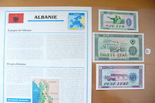 "SUPERBE BILLETS UNC + NOTICE PAYS -"" ALBANIE "" ETAT NEUF / 5 //(01/04/16)"