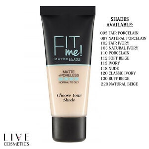 Maybelline Fit Me Matte & Poreless Foundation 30ML ** CHOOSE YOUR SHADE **
