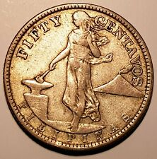 More details for scarce 1920 filipinas philippines under usa protectorade 50 cents silver coin