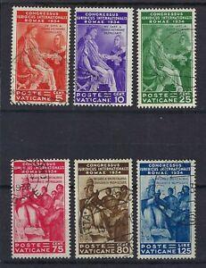 Vatican City 1935 International Judicial Congress Complete Set Used CV £170