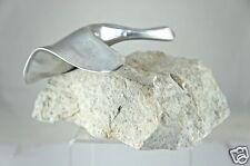 VINTAGE Hoselton Canada Goose or Swan Bird Aluminum Cast Sculpture Marble Base