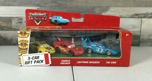Disney Pixar Cars 3-Car Gift Pack Charlie Checker, McQueen, & THE KING CARS116