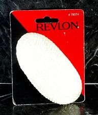 REVLON Hair Barrette Clip White Rope Fabric Clip Hair Accessory  NOS On Card