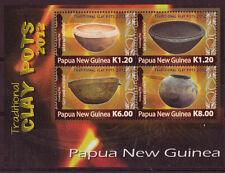 PAPUA NEW GUINEA 2012 CLAY POTS SHEETLET 4 UNMOUNTED MINT, MNH