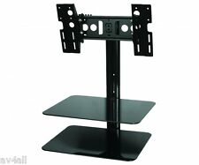 TV Wall Bracket with Glass AV Shelf SKY DVD AVF ESL422B Sky, PS3 & Xbox Shelf