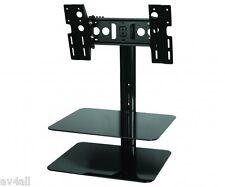 TV Wall Bracket with Glass AV Shelf SKY DVD AVF ESL422B Sky, PS3 & Xbox Shelf