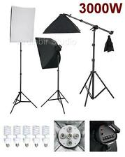 3000W Photo Video Studio Softbox Lighting Light Kit