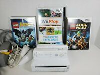 Nintendo Wii Sports Console Bundle RVL-001 1st Gen Plays Wii & Gamecube Games