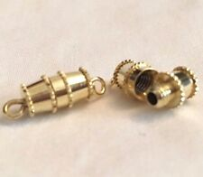 10 GP BARREL CLASPS SCREW ON CLASPS, 10X5MM (not including hoops on ends)