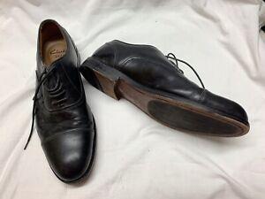 Mens Black Leather Clarks Cushion Lace Up Shoes Sz 9