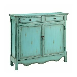 Contemporary Solid wood Sideboard Blue (MADE TO ORDER)