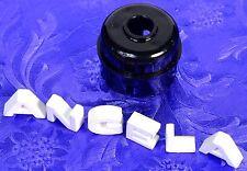 QQQ Black Phenolic Snap On Hood For Old Amphenol Pin Plugs, Power Supplies Etc.