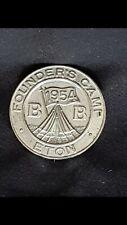 More details for rare vintage  boys brigade  eton founders camp metal badge 1954, cat.ref bb 162