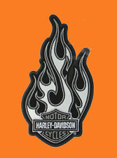 EM121064 - Harley-Davidson® Chrome Fire w/ B&S Reflective Large Patch Retired !!
