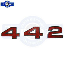 1972 Cutlass 442 Grille Numbers Emblem Chrome Front Grill Red