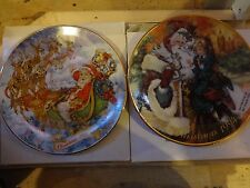 Set of 2 Avon Collectible Christmas Plates: 1993 and 1994 edition