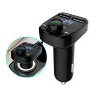 Wireless Bluetooth Handsfree Car FM Transmitter MP3 Charger USB Dual Kit B9J1
